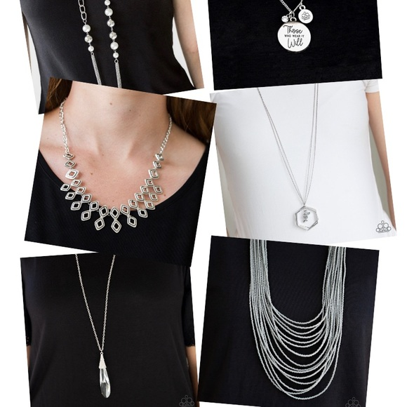 Lot of 6 Silver Necklaces NWT